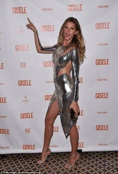 Ready to Rumba? Gisele Bundchen wears a see-through dress that looks like it was plucked from Dancing With The Stars wardrobe department when she stopped by the Spring Fling book launch on Saturday in New York City