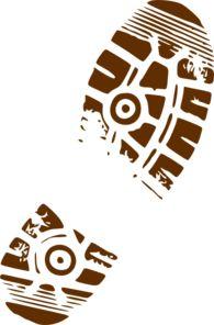Muddy Footprint Clip Art - for the runner cake
