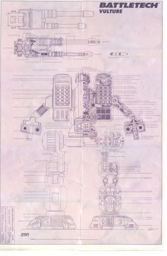 Image detail for -... Of The Day » Archives » Battletech: Vulture technical diagram