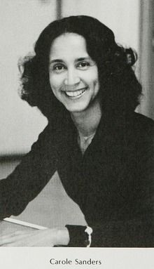 Math teacher Carole Sanders in the 1984 yearbook of Overbrook high school in Philadelphia, Pennsylvania.  #Overbrook #yearbook #1984