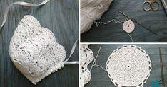 """Вяжем крючком чепчик """"Нежность"""" – бесплатный мастер-класс по теме: Вязание крючком ✓Своими руками ✓Пошагово ✓С фото Crochet Baby Bonnet, Crochet Bebe, Crochet Baby Clothes, Crochet Hats, Baby Bonnets, A Hook, Filet Crochet, Hobbies And Crafts, Baby Hats"""