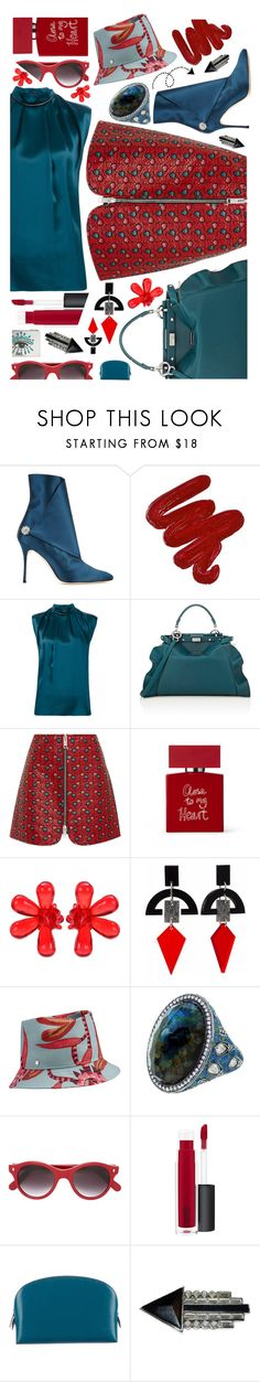 """Hopeful"" by sunnydays4everkh ❤ liked on Polyvore featuring Manolo Blahnik, Obsessive Compulsive Cosmetics, Lanvin, Fendi, Isabel Marant, Bella Freud, Simone Rocha, Toolally, Sevan Biçakçi and Cutler and Gross"