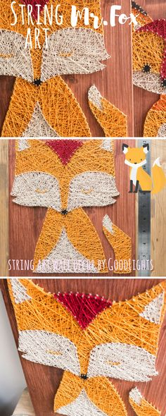 Modern woodland themed string art fox wall decor and key or jewelry holder. Perfect for your home! Great way of not loosing your keys, earrings or other jewelry anymore. Just leave it with the fox. Mr.Fox has six hooks ready to take care of missing keys or other hang-able thingies. You just have to remember to hang them there :) Size: 25 x 35 x 1,5 cm (7,9 x 11,8 x 0,6 inches) Color: Mahogany red color wood, brass color hooks