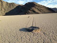 Mystery of how rocks move across Death Valley lake bed solved  The cracking sounds were ferocious. An ankle-deep, frozen lake in Death Valley National Park was breaking apart under sunny skies.  http://www.latimes.com/local/lanow/la-me-ln-rocks-move-death-valley-lake-bed-20140827-story.html