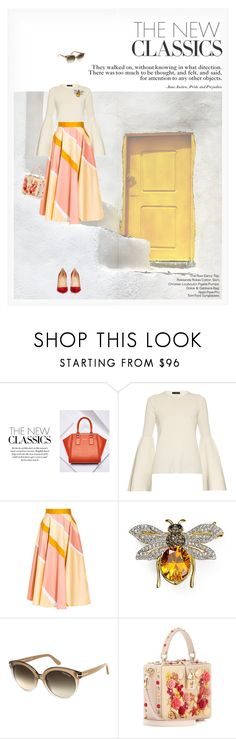 """""""THE NEW CLASSICS"""" by paint-it-black ❤ liked on Polyvore featuring BCBGMAXAZRIA, The Row, Roksanda, Nadri, Tom Ford, Dolce&Gabbana and Christian Louboutin"""
