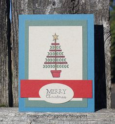 Hand stamped Christmas card by Dawn using the Holiday Greetings set from Verve. #vervestamps #cardmaking | Holiday cards