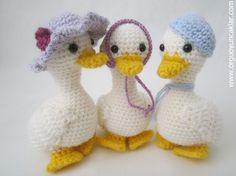 (4) Name: 'Crocheting : Amigurumi Mum and Baby Ducks Pattern