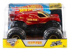 Amazon.com: Hot Wheels Monster Jam 1:24 Die-Cast Ironman Vehicle: Toys & Games