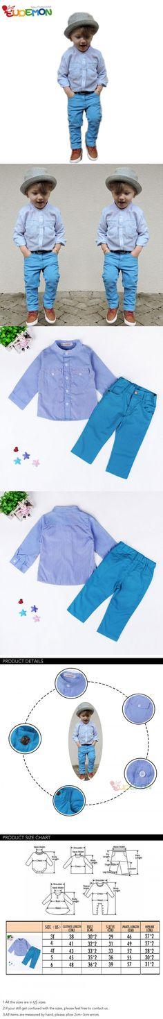 [Eudemon] 2016 New Boys Clothing Shirts and Pants Suit for Children Kids Clothes Spring Boys Clothing Set roupas infantis menino $14.91