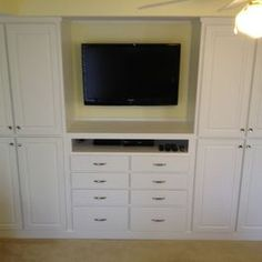 Tv Closet Design Ideas, Pictures, Remodel and Decor Master Bedroom Closet, Master Bedroom Makeover, Bedroom Wardrobe, Built In Wardrobe, Build A Closet, Small Closets, Closet Designs, Built In Storage, Bedroom Storage