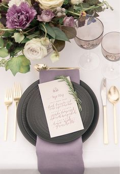 lilac, gold and evergreen wedding - Google Search