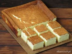 Polish Desserts, Polish Recipes, Polish Food, Chicken Alfredo Lasagna, Good Food, Yummy Food, Different Cakes, Food Cakes, No Bake Cake