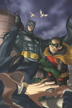 Batman and Robin by Mike Choi