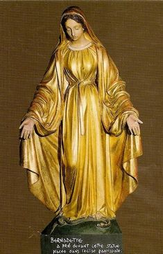 A statue of Mary from the old parish church of Lourdes. St Bernadette used to pray before this statue.