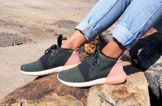 Adidas Womens Tubular Pink and Olive // JustAsCreated.com