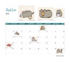 Gratis calendario Sonrisas de gato Julio 2016