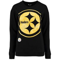 87aecdc09 5th   Ocean by New Era Pittsburgh Steelers Women s Black Athletic Fleece  Sweater