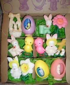 Vintage Easter. Thirteen Dimes Store Novelty Candles