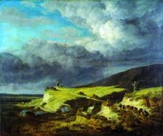 Jacob Isaackszoon van Ruysdael, Paesaggio con mulini a vento all'avvicinarsi del temporale, 1660 - 1662 circa, olio su tavola / Jacob Isaackszoon van Ruysdael, Landscape with windmills while the storm in approaching, ca. 1660 - 1662, oil painting on canvas, Gorizia, Palazzo Coronini Cronberg, inv. 850