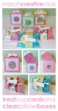 Lisa's Creative Corner: March Creative Club - Easter Treat Cup Cards and Pillow Boxes