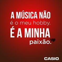 A música não é o meu hobby. É a minha paixão! #musica #paixao