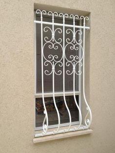 סורג בטן מעוצב: תמונה מס' 45 קטגוריה:D Burglar Bars, Wrought Iron, Wine Rack, Metal Working, Gates, Furniture, Home Decor, Ideas, Flower