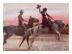 vintage woman bronc rider - Google Search