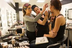 Episode 3: #DesignerIrina works with one of our makeup artists to show exactly what look she's going for. #PRAllStars