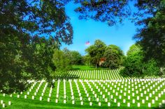 Tombstones at Leavenworth National Cemetery