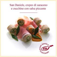#Prosciutto di #SanDaniele, crepes di saraceno e zucchine con salsa piccante. http://www.prosciuttosandaniele.it/home_prosciuttosandaniele.php?n=386&l=it