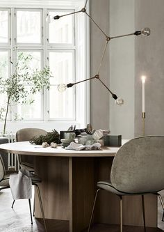 A Swedish home in greige (with some fab pieces)