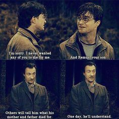 Always breaks my heart. This is the only time in the movie that talks about Teddy Lupin