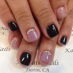 Nails tips The Coolest Fall Acrylic Nail Designs Ideas are so perfect for fall! The Coolest Nail Designs Ideas are so perfect for fall! Hope they can inspire you and read the article to get the gallery. Acrylic Nails Natural, Fall Acrylic Nails, Acrylic Nail Designs, Natural Nails, Really Short Nails, Nagel Tattoo, Gel Nagel Design, Short Gel Nails, Black Gel Nails