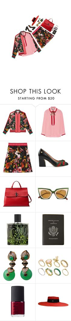 """Presenting the Gucci Garden Exclusive Collection: Contest Entry"" by jetra13 ❤ liked on Polyvore featuring Gucci, Fendi, Nest, Smythson, NARS Cosmetics, ASOS and gucci"