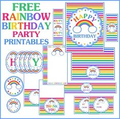 Free rainbow party printable
