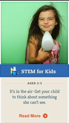 Try this experiment to get your preschooler thinking about air. Click for details. #STEM