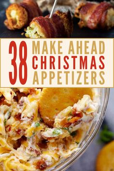 When you're hosting a holiday party, the last thing you need is kitchen stress. This post is full of crowd pleasing and easy, make ahead holiday appetizers. There are elegant and fancy bites for your Make Ahead Christmas Appetizers, Appetizers For Kids, Christmas Party Food, Finger Food Appetizers, Christmas Treats, Holiday Dinner, Easy Make Ahead Appetizers, Easy Christmas Dinner, Elegant Appetizers