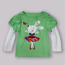 2013 New Design Baby Girl Autumn T Shirt Kids Cotton Top For Children Christmas Wear Infant Toddlers Clothing Hot Sellers(China (Mainland))