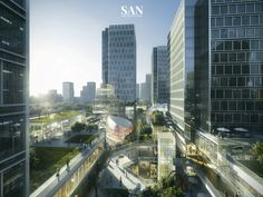 SAN Architectural on Behance Retail Architecture, Futuristic Architecture, Landscape Architecture, Architecture Design, Commercial Complex, Commercial Street, Perspective Images, Future Buildings, Mix Use Building