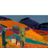 Pierre AMBROGIANI (Ajaccio, 1907 - Allauch, 1985) La montagne de Montbrun, Drôme Huile sur toile
