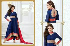 Buy Stylish and classy semi-stitched Designer suits in Pure Georgette