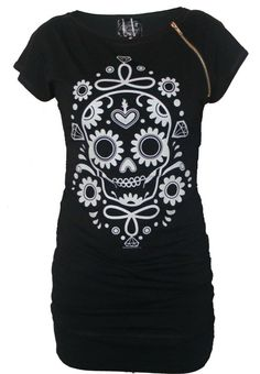Sugar Skull Tunic Dress, ohmygod I need this.