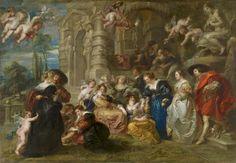 The Garden of Love - Rubens (1638) at Museo Nacional del Prado