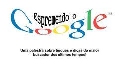 Vem gente! Hoje vai rolar uma palestra: Espremendo Google, com a profª Thais Lari. Confira o local e a data: http://www.ctrlzeta.com.br/fatec-espremendo-o-google/