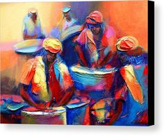 Colour Pan Canvas Print featuring the painting Colour Pan by Cynthia McLean