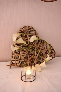 Décoration mariage, orchidée, vert amande