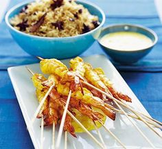 A very stylish way of cooking and presenting king prawns