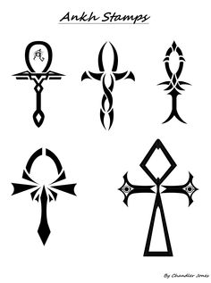Ankh Tattoo design stamp sheet