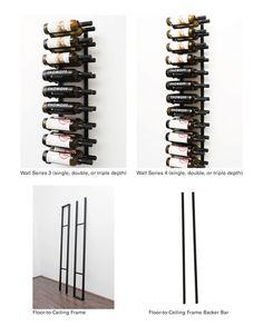 21 Bottle Floating Wall Wine Rack Kit (1 Sided)