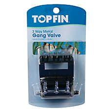 Top Fin® 3 Way Metal Gang Valve